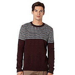 Red Herring - Wine reverse striped jumper