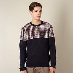 Red Herring - Navy reverse striped jumper