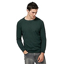 Red Herring - Big and tall dark green crew neck jumper