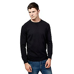 Red Herring - Big and tall black crew neck jumper