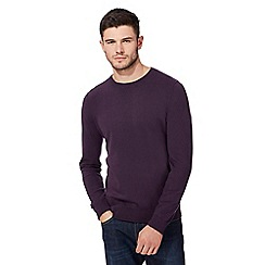 Red Herring - Big and tall purple crew neck jumper