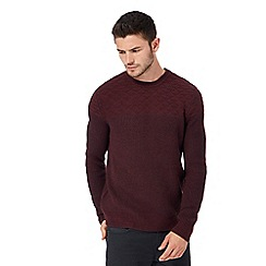 Red Herring - Dark red textured jumper