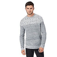 Red Herring - Grey textured jumper with wool