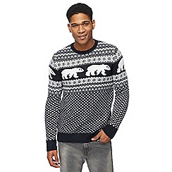 Red Herring - Navy polar bear Christmas jumper