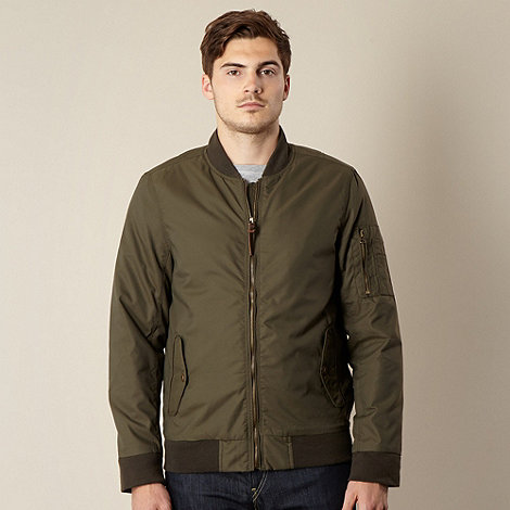 Red Herring - Khaki nylon bomber jacket