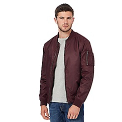 Red Herring - Dark purple bomber jacket