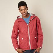 Red lightweight hooded jacket