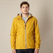 Mustard hooded hiking jacket