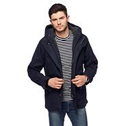 Navy hooded hiking jacket