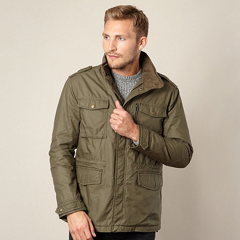 FFP - Khaki coated funnel neck jacket