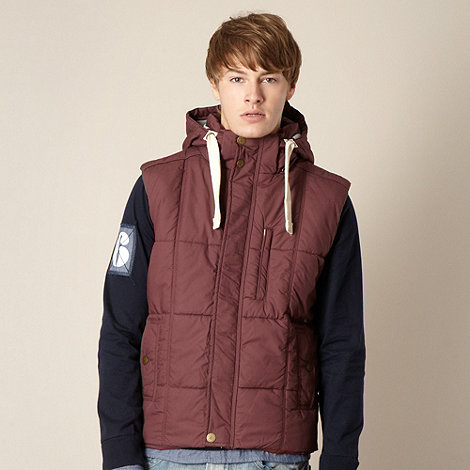 St George by Duffer - Dark red hooded gilet