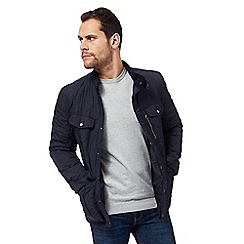 Red Herring - Navy quilted zip detail jacket