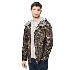 Red Herring - Big and tall khaki camouflage print jacket