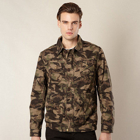 Red Herring - Khaki four pocket camouflage jacket