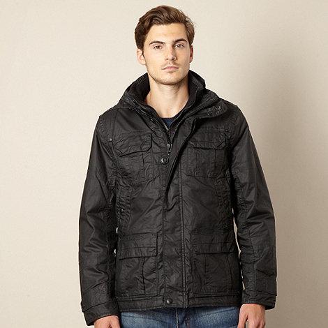 FFP - Black coated herringbone jacket