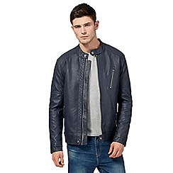 Red Herring - Navy biker jacket