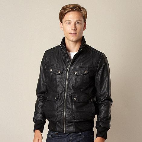 Red Herring - Black four pocket funnel neck jacket