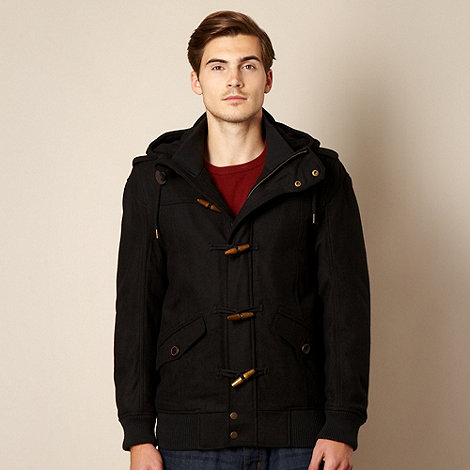 Red Herring - Black bomber duffle jacket