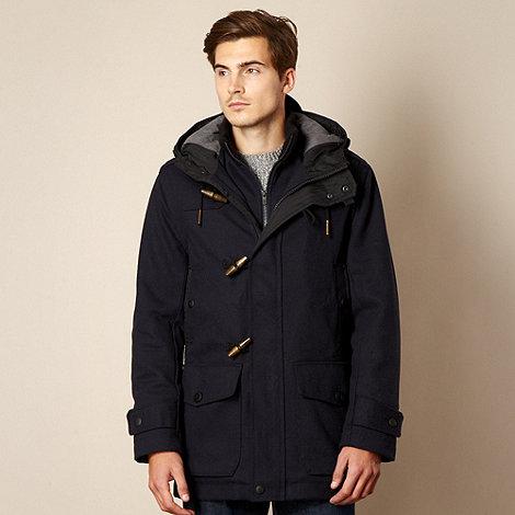 FFP - Navy textured hooded jacket