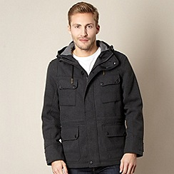 FFP - Dark grey peaked hood coat