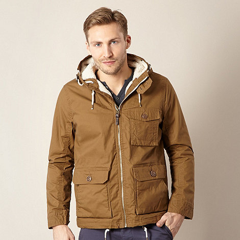Red Herring - Tan fleece padded parka