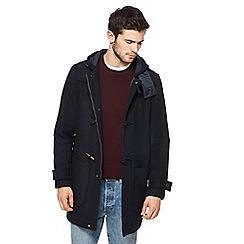 Red Herring - Navy duffle coat with wool