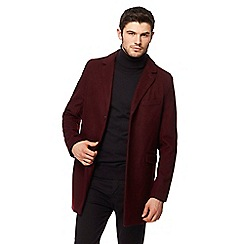 Red Herring - Dark red Epsom coat with wool