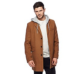 Red Herring - Big and tall camel epsom coat