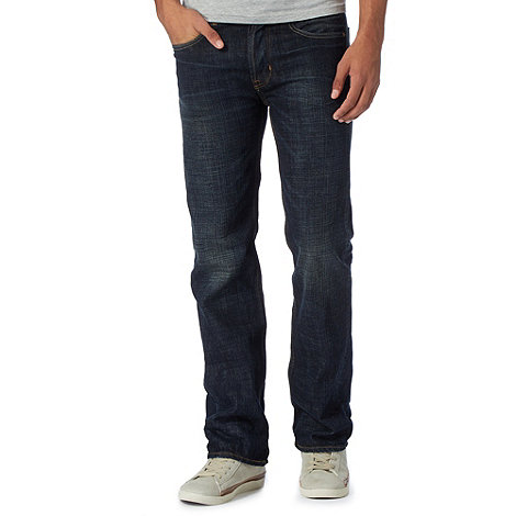St George by Duffer - Dark blue bootcut jeans