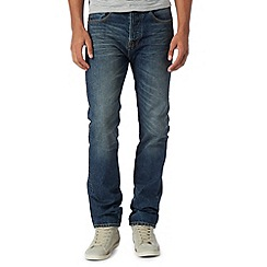 St George by Duffer - Light blue straight leg worn effect jeans