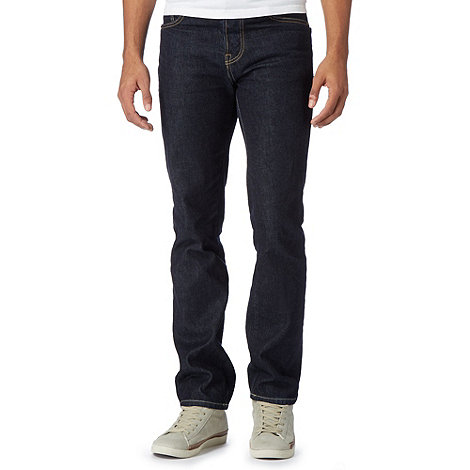 St George by Duffer - Navy straight leg jeans