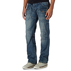 FFP - Dark blue faded straight leg jeans