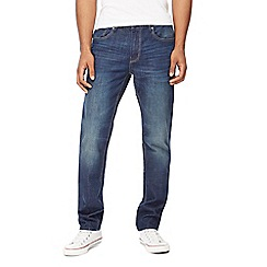 Red Herring - Mid blue 'Redcast' slim fit jeans