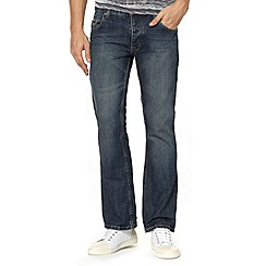 Red Herring - Blue bootcut button jeans