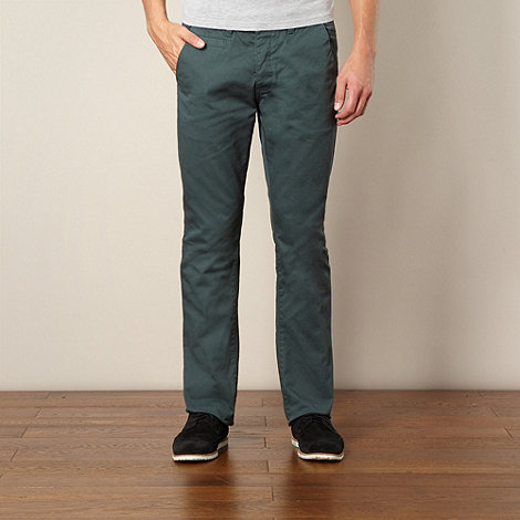 Red Herring - Green slim fit chino trousers