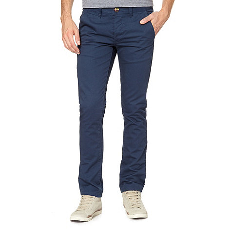 Red Herring - Big and tall blue slim fit chino trousers