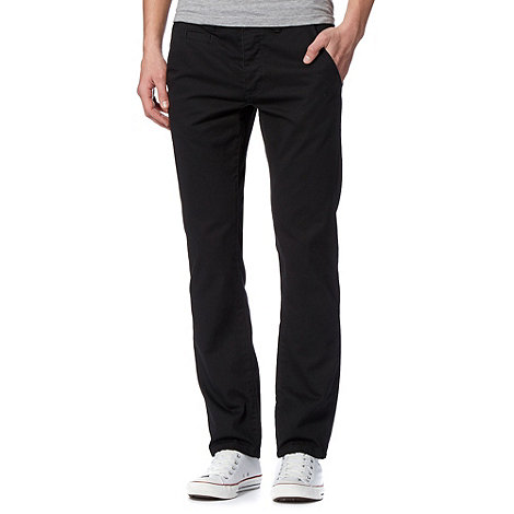 Red Herring - Black slim chino trousers