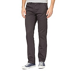 Red Herring - Dark grey straight chino trousers