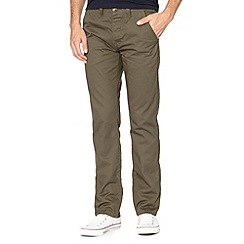 Red Herring - Khaki straight fit chinos