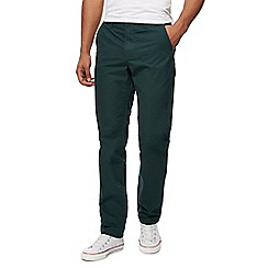 Red Herring - Big and tall dark green slim fit chinos