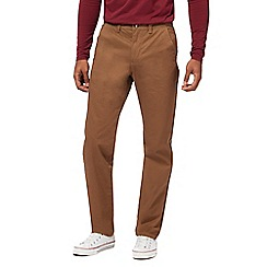 Red Herring - Big and tall dark tan straight leg trousers