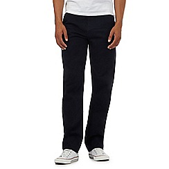 St George by Duffer - Navy straight leg twill chinos