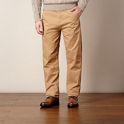 St George by Duffer - Light tan straight leg twill chinos