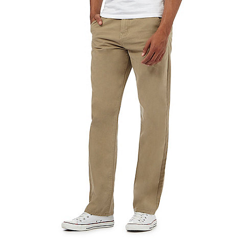 St George by Duffer - Natural straight leg twill chinos