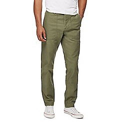 Red Herring - Khaki tapered fit trousers