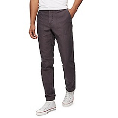 Red Herring - Dark grey tapered fit trousers