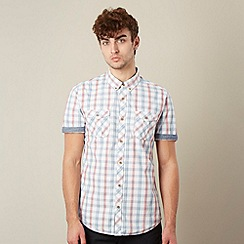 Red Herring - Off white jacquard checked shirt