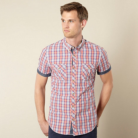Red Herring - Blue checked two pocket shirt