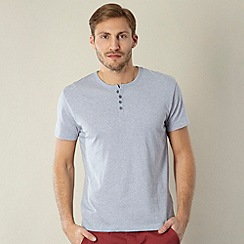 Red Herring - Pale blue button neck top