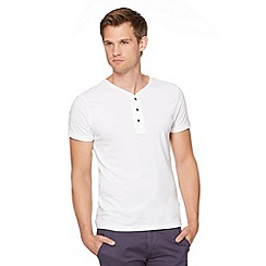 Red Herring - White button neck t-shirt